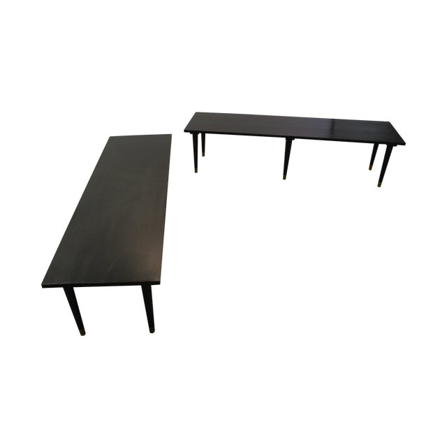 Mid Century Modern Ebonized Coffee Tables - Pair - Image 1 of 11