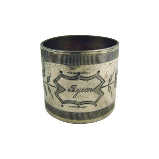 "Silver Plate ""Byron"" Napkin Ring"