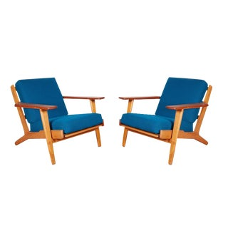 Mid Century Wegner Easy Chair, GE 290 Oak Getama