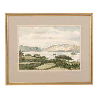 A handsome contemporary watercolour signed and dated 1986 in the lower right of Derwent Water from Great Wood by Robert Lobleng.