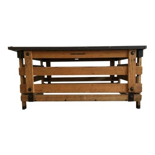 Contemporary Painted and Found Wood Coffee Table