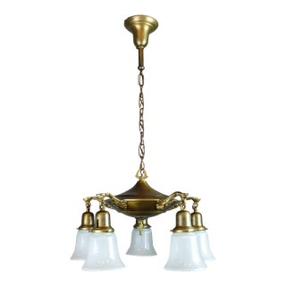 Antique Pan Light Fixture (5-Light)