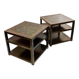 Grosfeld House Leather Tables - a Pair
