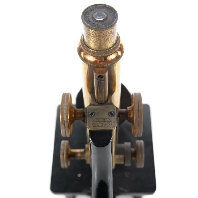 Ernst Leitz Wetzlar Antique Brass Microscope & Box - Image 9 of 9