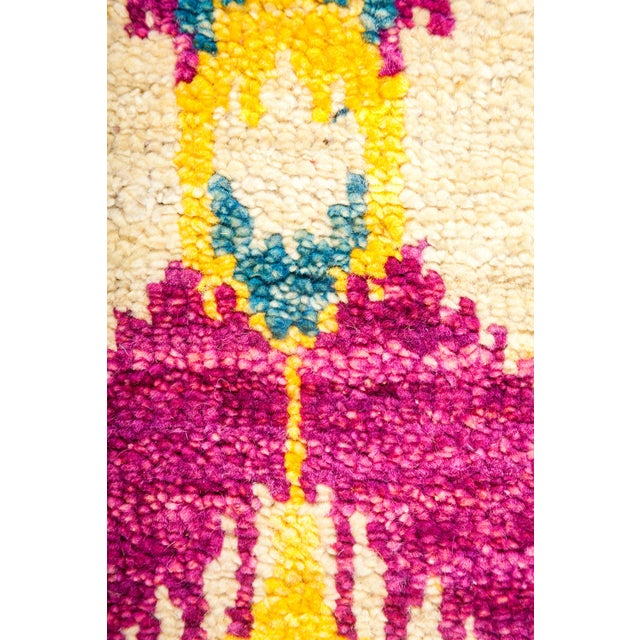 """Ikat Hand Knotted Area Rug - 4'3"""" X 6'1"""" - Image 3 of 3"""