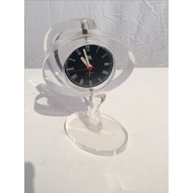 Mid-Century Modern Jetsons Lucite Alarm Clock - Image 4 of 4