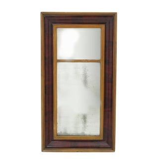 Antique Burled Mahogany Wall Mirror
