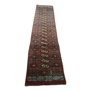 Asian Hand Knotted Carpet Runner - 2′6″ × 9′11″