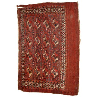 1880s Hand Made Antique Collectible Turkoman Yomud Rug - 2′3″ × 3′