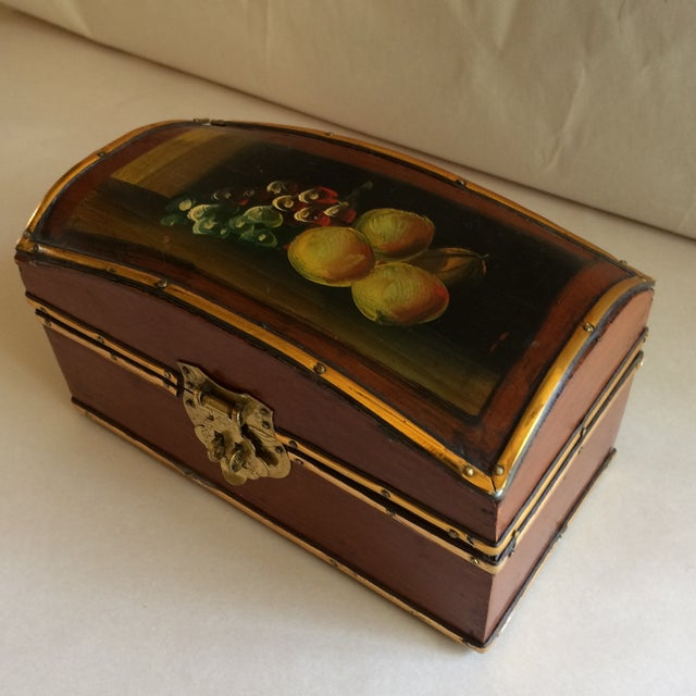 Vintage Hand Painted Fruit Motif Wooden Box - Image 11 of 11