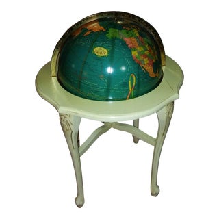 Vintage Cram French Provincial Light Up Political Terrestrial Globe