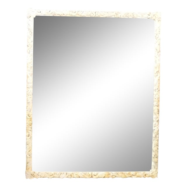 Shabby Chic Hand-Carved Mirror - Image 1 of 9