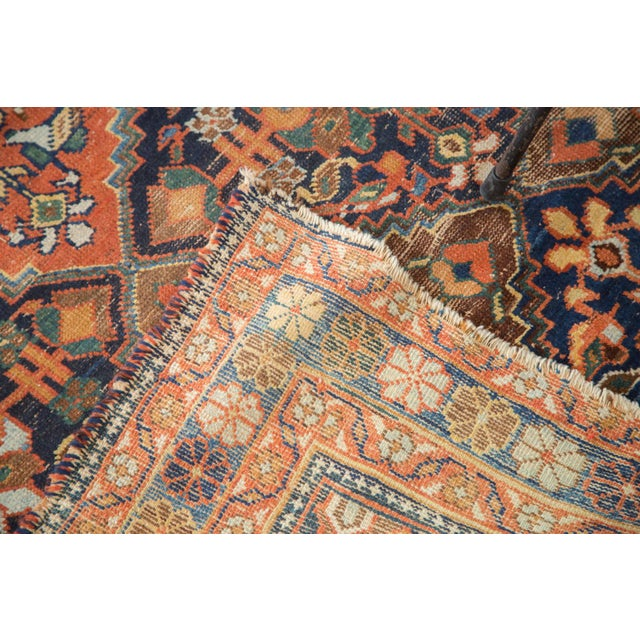 """Antique Distressed Afshar Square Rug - 4'4"""" X 5'7"""" - Image 8 of 9"""