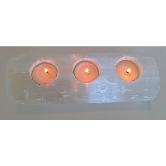 Image of Selenite Branch Tealight Candle Holder