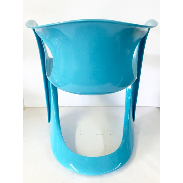 70's German Molded Organic Form Lacquered Armchair - Image 6 of 8
