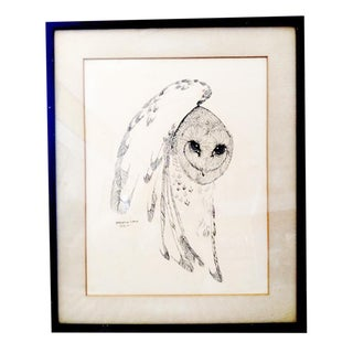 """Owl"" Pen & Ink Drawing"