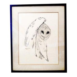 """Owl"" Pen & Ink Drawing"