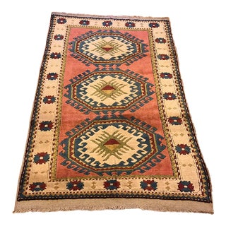 "Vintage Kars Turkish Rug - 4'2"" X 6'2"""