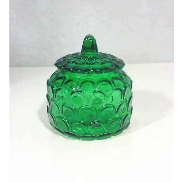 Image of Italian Emerald Green Canister Jar