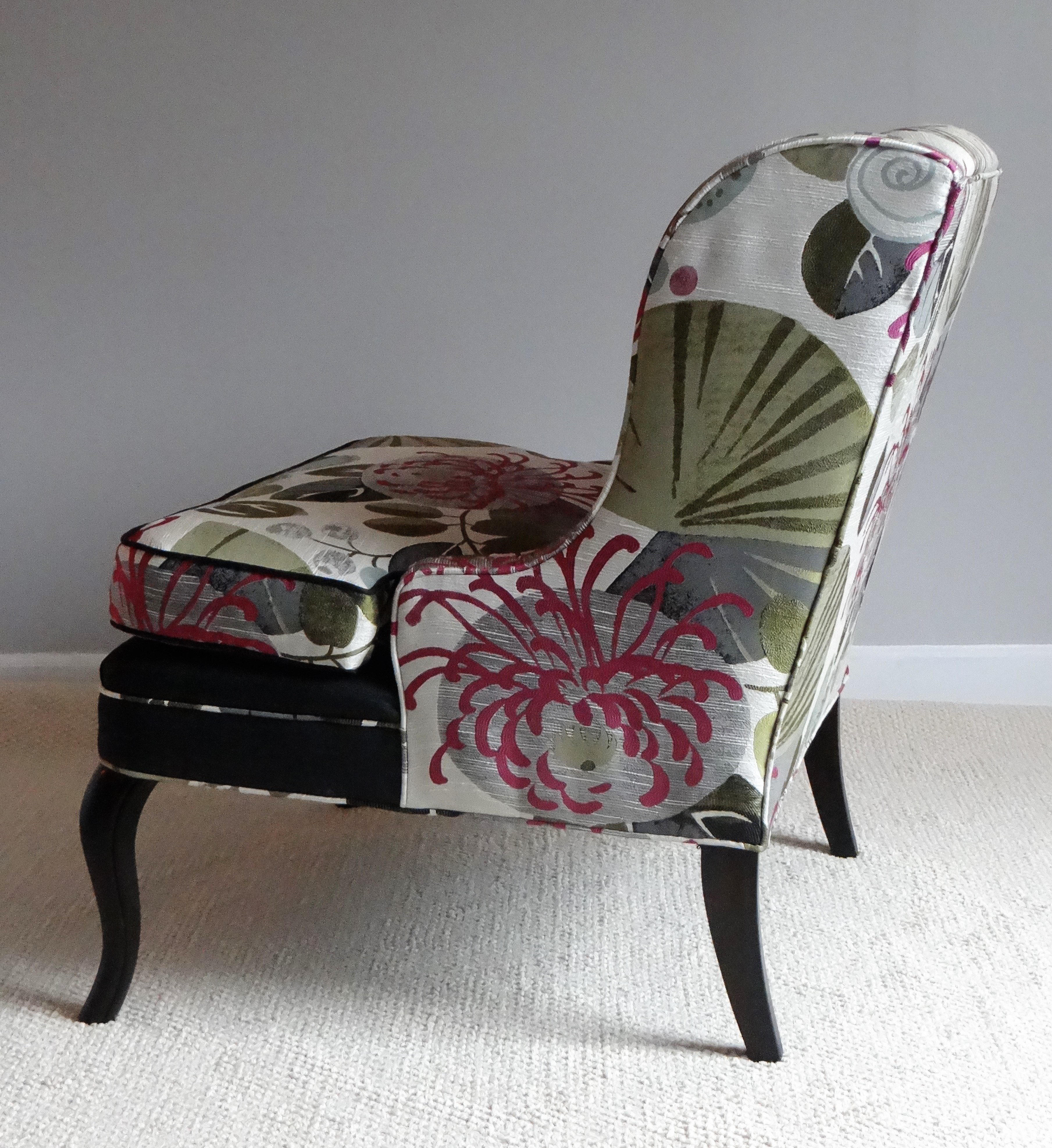 Attractive Vintage Slipper Chair   Image 3 Of 8