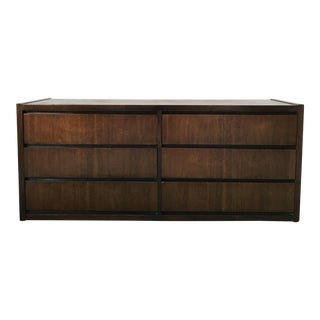 Lane Mid Century 6-Drawer Walnut Dresser