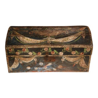 18th Century French Wedding Box from Normandy with Birds and Flowers