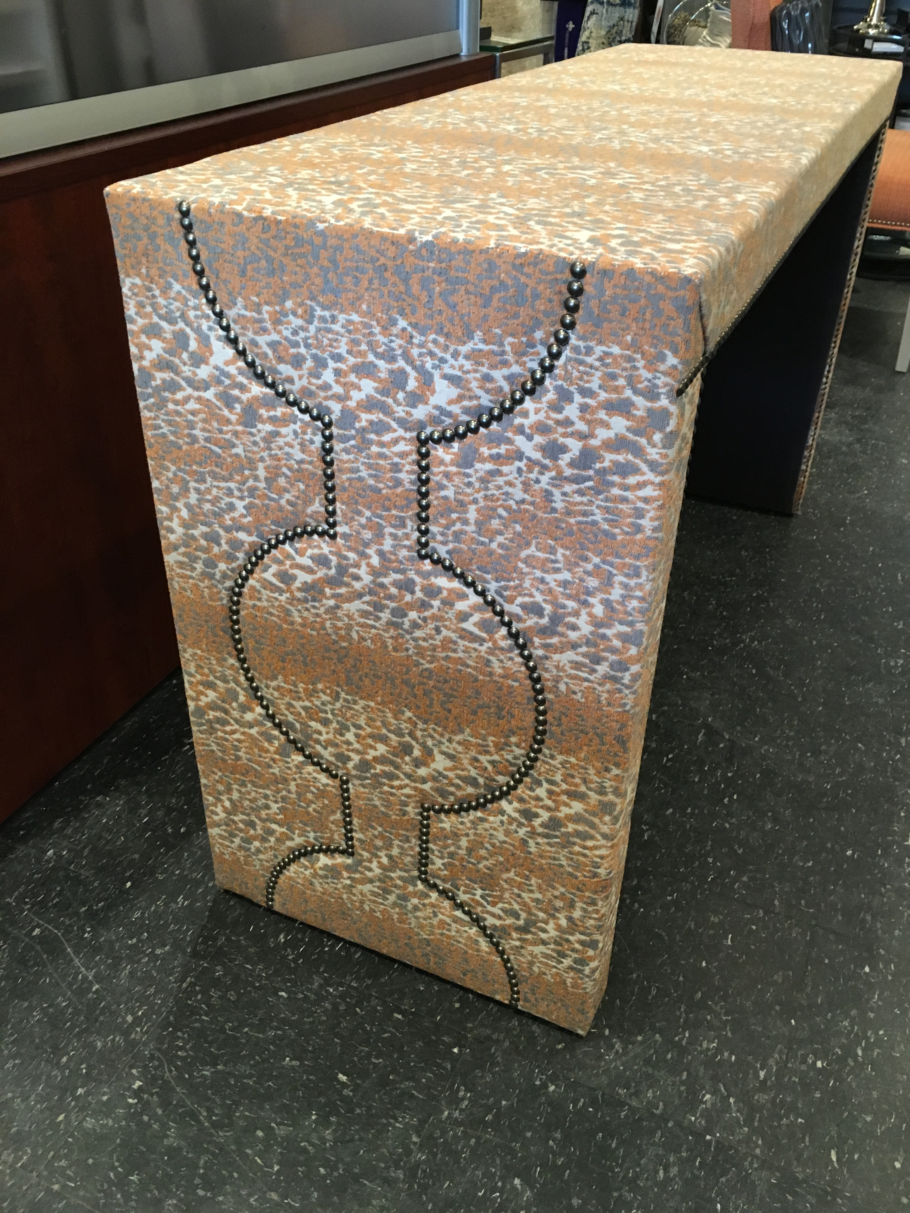 Wesley Hall Fabric Covered Console Table   Image 3 Of 8