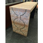 Image of Wesley Hall Fabric Covered Console Table