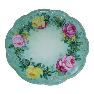 A.K. Limoges Floral Roses Charger