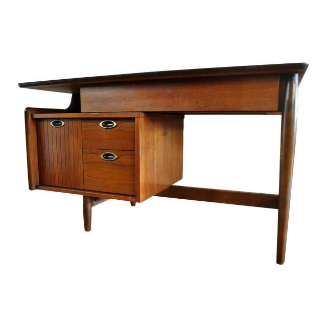 Hooker Mid-Century Walnut Small Floating Desk - Image 1 of 8