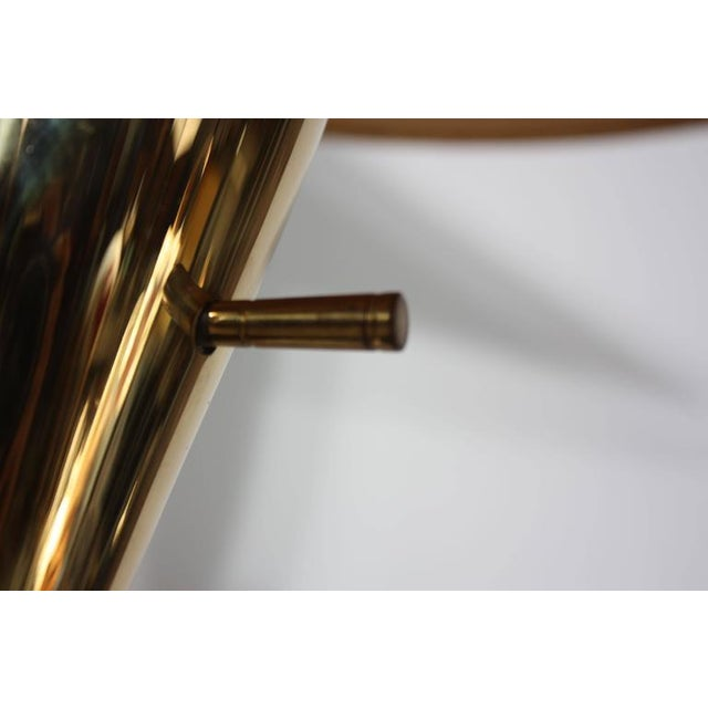 Image of Rare Brass and Glass Table Lamp by Raymond Loewy for Stiffel, Model #9659
