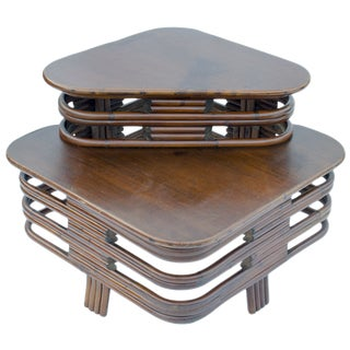 Paul Frankl Rattan Corner Table