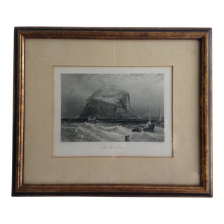 "Birkett Foster ""The Bass Rock"" Metal Plate Engraving"