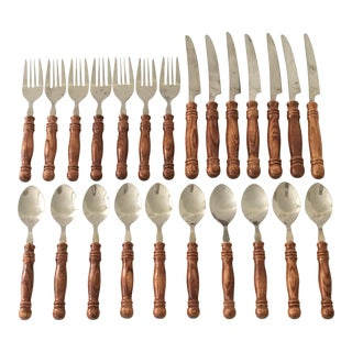 Faux Bamboo Flatware- 24 Pieces