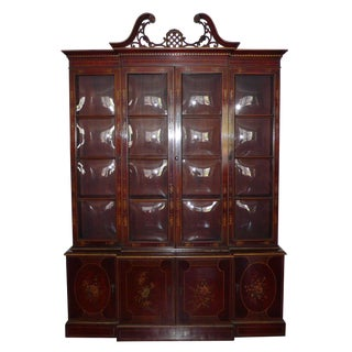 Union National Chinoiserie Mahogany Breakfront