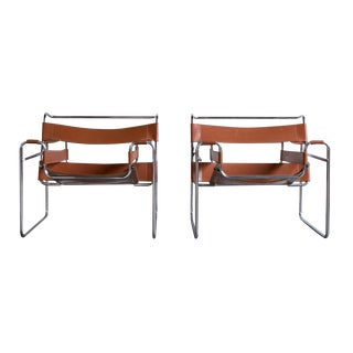 Wassily Marcel Breuer for Knoll Chairs - a Pair