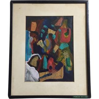 """Rita Silvan """"Tumbled"""" Abstract Painting"""