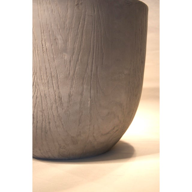 Image of Gray Faux Wood Planter