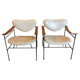 Pair of Metal Side Chairs