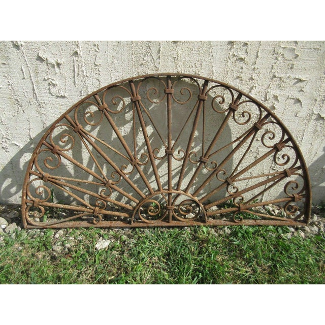 Antique Victorian Iron Gate Architectural Element - Image 2 of 7