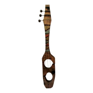 Mid-Century Witco Wilrongo Tiki Modern Wood Guitar Wall Sculpture