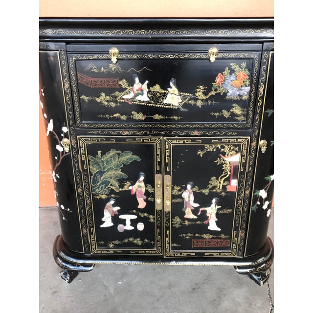 Lacquer and Inlay Hardstone Chinese Dry Bar - Image 5 of 8