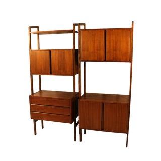 Mid Century Modern storage Room Divider Bookcase Hutch