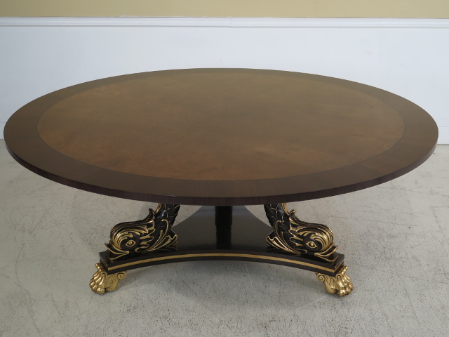 Karges Round Dolphin Base Dining Table   Image 2 Of 11