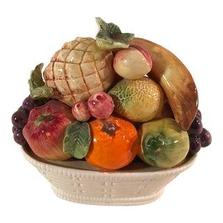 Mid-Century Ceramic Fruit Basket Topiary