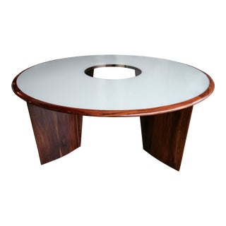 1960s Tenreiro Brazilian Jacaranda Round Dining Table for Eight
