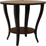 Image of Wooden Round Accent Table
