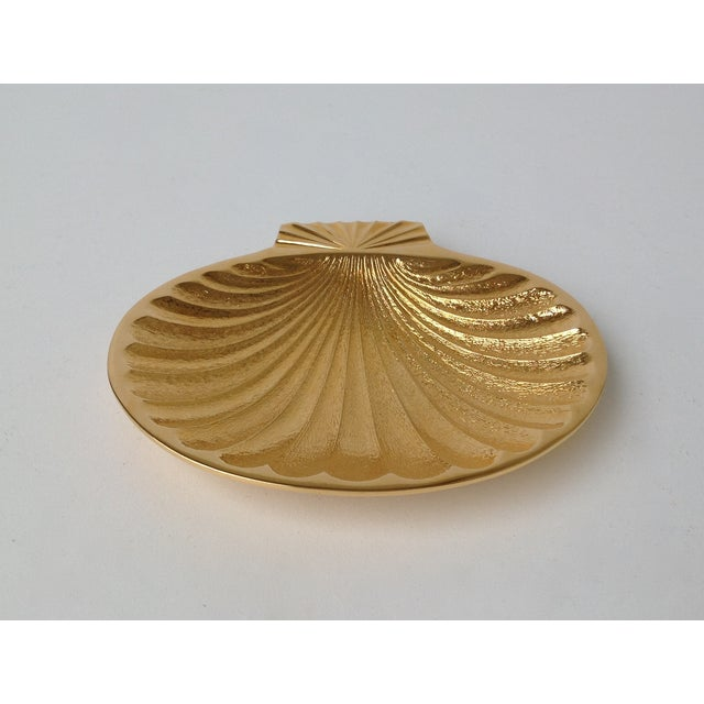 Gold Plated Fanned Shell-Shape Ring Dish - Image 2 of 11