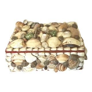 Vintage Shell-Encrusted Box