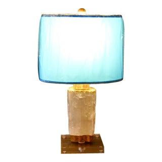 Modern Crystal Selenite Table Lamp